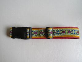 Hundehalsband gelb/rot  Gr.  L 40 - 45 cm /B 3,5cm