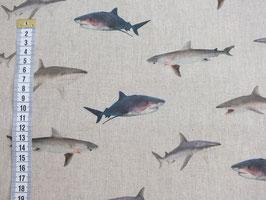 Dekostoff mit Haien