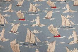 Dekostoff mit Schiffen Polyesterbeschichtet