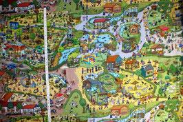 Jersey-Kinderstoff mit Zoo