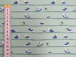 Jersey-Kinderstoff mit Vögeln