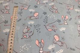 Jersey-Kinderstoff mit Mäusen