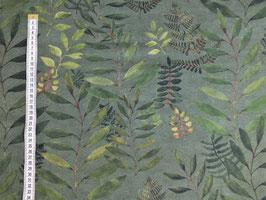 Dekodruck mit grünen Blättern