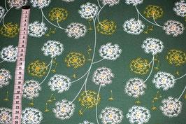 Jerseystoff mit Pusteblumen