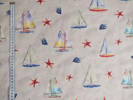 Dekostoff mit Segelschiffen