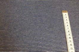 Jerseystoff mit blauen und grauen Streifen
