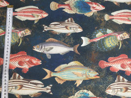 Dekodruck mit bunten Fischen