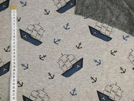 Alpenfleece mit Segelschiff und Anker