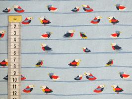 Jerseystoff mit kleinen Vögeln