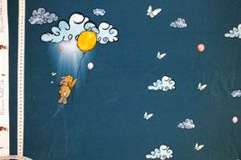 Jersey-Paneele mit Hasen und Ballon