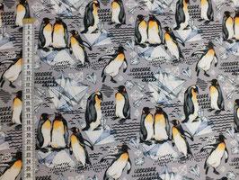 Jerseystoff mit Pinguinen