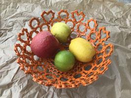 Corbeille à fruits rond et coeur de chaine recyclée