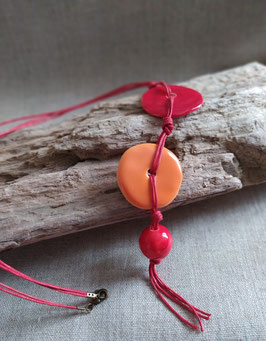 Collier Ippy rouge et orange