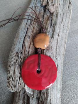 Collier Bahia rouge et orange