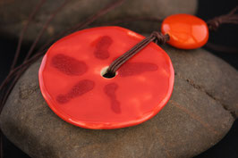 Sautoir Kananga rouge soleil