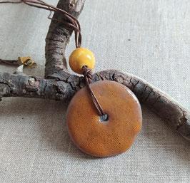 Collier Bahia orange minéral