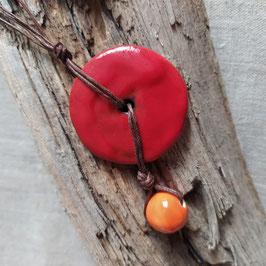 Collier Bahia rouge coquelicot