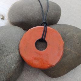 Grand pendentif orange