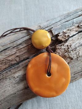 Collier Bahia orange et jaune