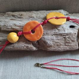 Collier Ippy orange et jaune