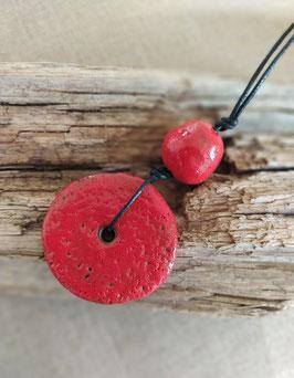 Collier Bahia rouge minéral
