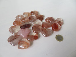 Hematoide kwarts ( Bergkristal met Hematiet) 3,5 x 3 x 1,3