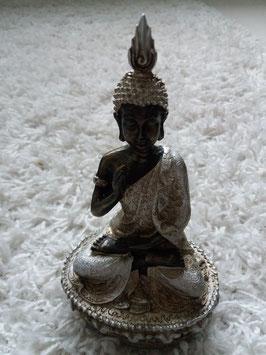 Buddha zwart/zilver