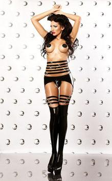 LOLITTA EXPRESSION Sexy Set Calze Bodystocking con Stringatura e Giarrettiere Reggicalze