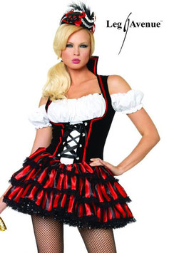 LEG AVENUE Pirate Costume Mini Abito da Sexy Pirata del Mare |LA-83607|