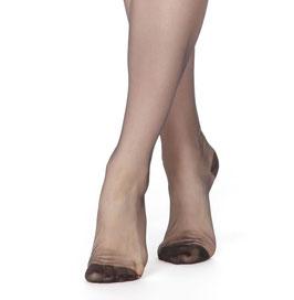 Calze NERE di Nylon Velate Vintage Stile RHT Serena 30 Denari con Punte e Tallone Rinforzati