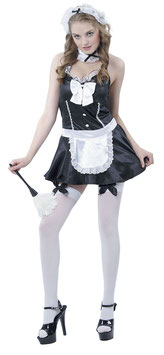 FUNSTAR Costume Divisa da Domestica Cameriera Abito + Accessori + Calze OMAGGIO! |51085|