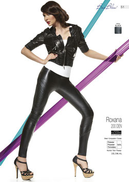Bas Bleu - ROXANA Leggings in Ecopelle Neri 200 DENARI con Cuciture Decorative in Rilievo