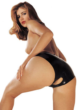 SHARON SLOANE Slip Nero in Latex Aperto al Pube |SS-1902|