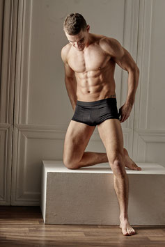 SVENJOYMENT Boxer Shorts Uomo in Microfibra Nero  |2132052|