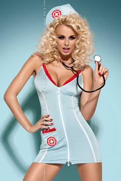 OBSESSIVE Set DOCTOR Abito Divisa Completo da Sexy Infermiera + Stetoscopio |OB-9222|