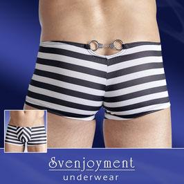 SVENJOYMENT Boxer Shorts Uomo Divertente Bianco & Nero con Manette in Metallo |2131897|