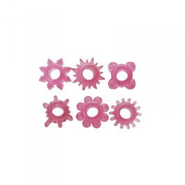 TOYZ4LOVERS Timeless Confezione Kit di 6 Anelli Fallici Elastici |00802816|