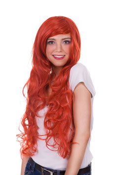 AMAZING GIRL Parrucca Cosplay Anime Manga Capelli Lunghi Mossi Ricci Rossi |AG-PER041|