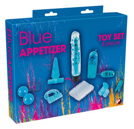 YOU2TOYS Blue Appetizer Kit Set 8 Pezzi Assortiti Sex Toys di Coppia Anelli + Vibratori + Plug .. |0592242|