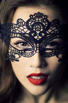 Maschera per Occhi Venezia Style Nera in Pizzo Ricamato |LC0349|
