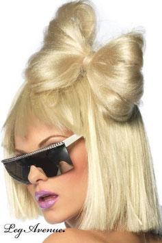 LEG AVENUE Gaga Fiocco di Capelli Finti Biondo Platino da Applicare |LA-A1056|