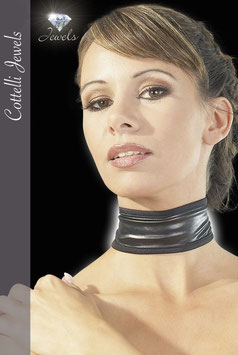 COTTELLI JEWELS Collarino in Tessuto Nero WetLook |2460033|