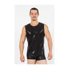 LOOK ME T-Shirt Canotta da Uomo ATTRACT in Tessuto Lucido WetLook Effetto Latex |LM62|