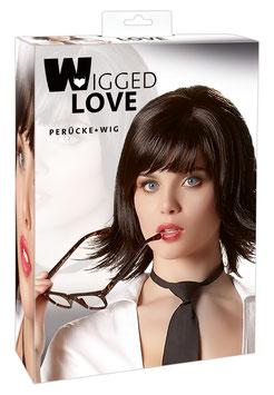 WIGGED LOVE Parrucca JOANNE Capelli a Caschetto Taglio Sfrangiato Lisci Neri con Frangia |773620|
