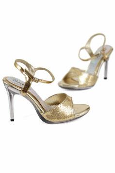 SOIS BELLE Sexy Sandali Dorati e Glitterati con Tacco Alto 10 cm Trasparente |GS-38|