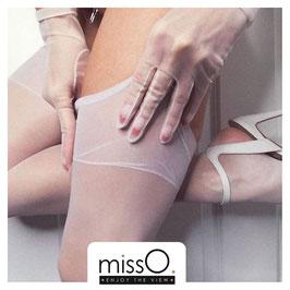 MissO Silky Stockings Calze Velate Lucide Satinate 15 DENARI Balza Classica Alta Liscia a Contrasto |S301|