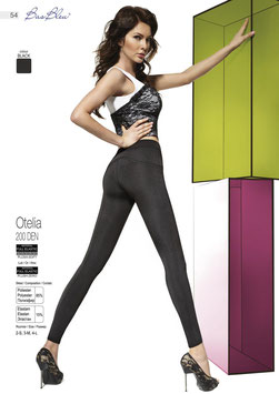 Bas Bleu - OTELIA Leggings Neri 200 DENARI con Cuciture Decorative