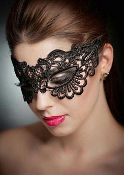Maschera per Occhi Venezia Style Nera in Pizzo Ricamato |C80609|