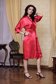 DKAREN Vestaglia 115 Lunga Kimono in Raso con Cintura a Nastro e Maniche Larghe a 3/4