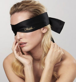 BIJOUX INDISCRETS Shhh Blindfold Benda per Occhi in Raso Satinato Nero |BI-0031|